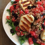 Watermelon and Grilled Halloumi Barley Salad