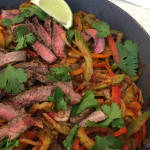 Celery and Pepper Steak Fajitas