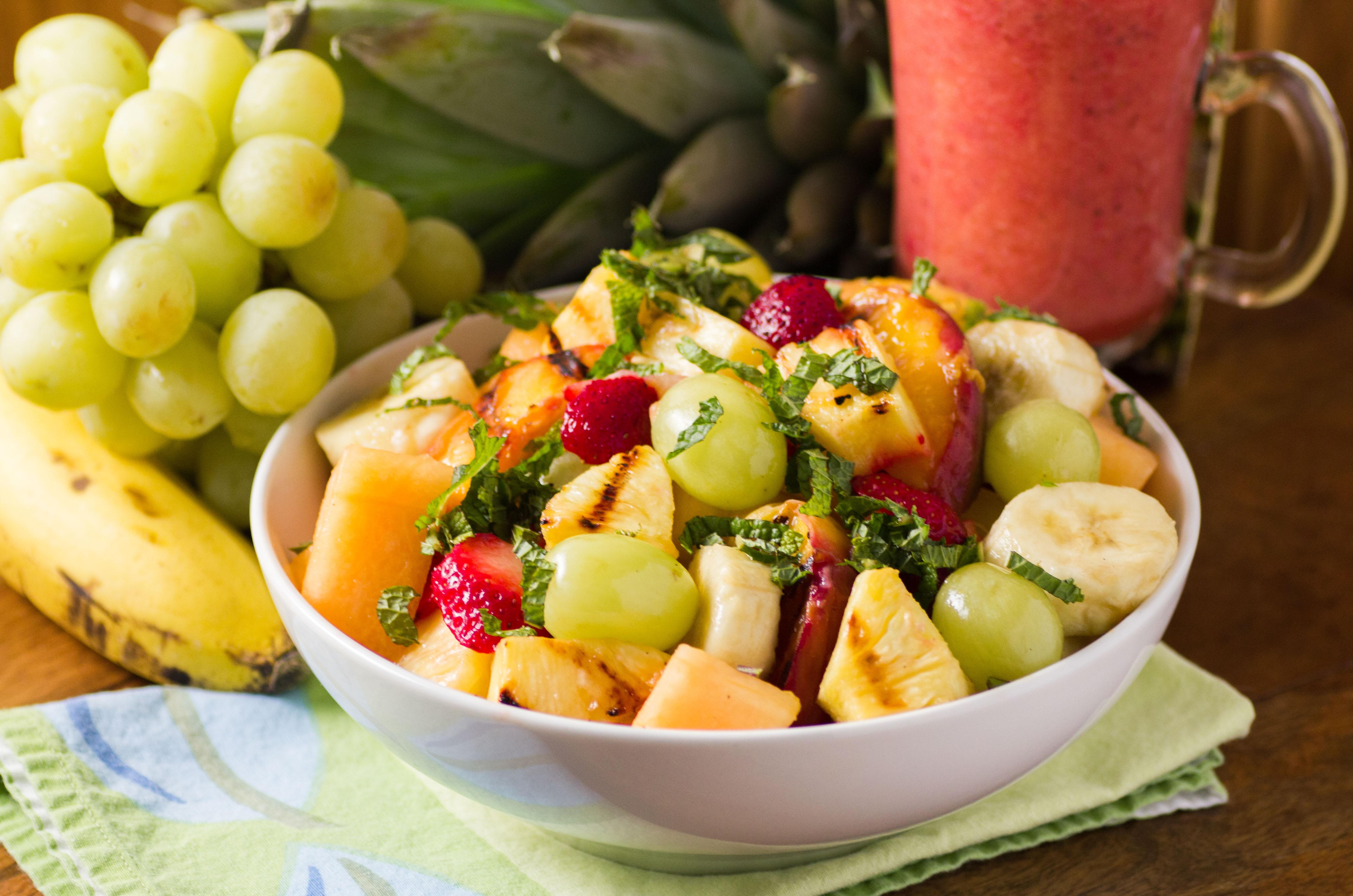 Grilled Fruit Salad - Half Your Plate