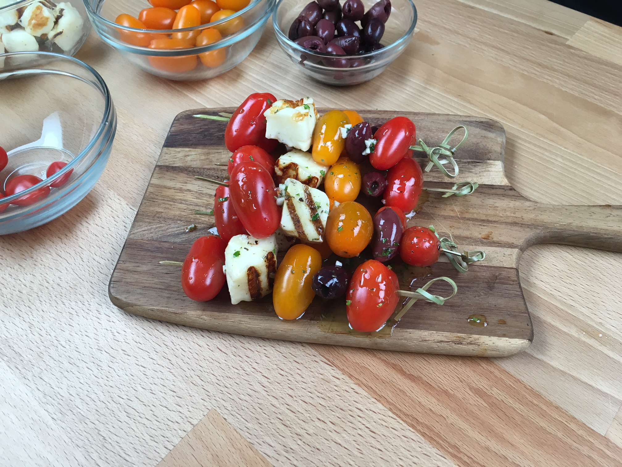 Mini Tomato Salad Skewers