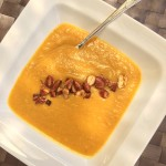 Spiced Parsnip Soup with Smoked Paprika Almonds