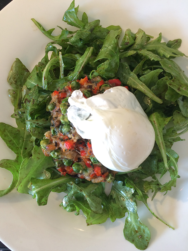 Stuffed Mushroom with Poached Egg by Emily Richards