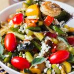 BBQ Crevettes et légumes