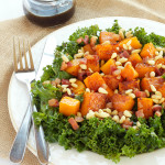 Warm Kale and Butternut Squash Salad with Pancetta and Toasted Pine Nuts