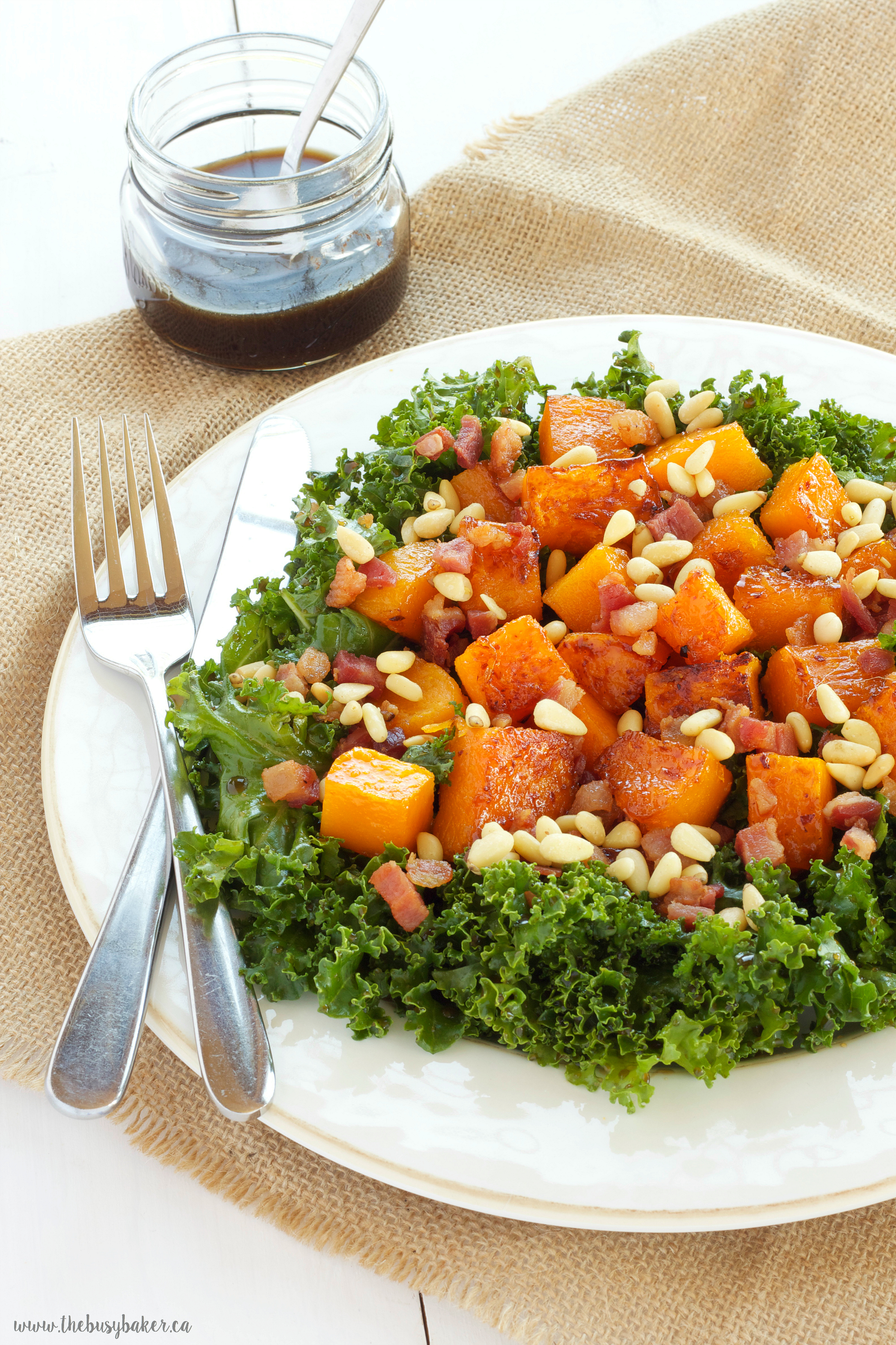 Warm Kale and Butternut Squash Salad with Bancetta