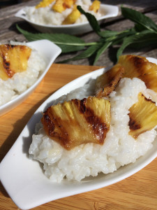 Grilled Pineapple and Coconut Rice