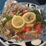 Salmon, Kale and Tomato en Papillote