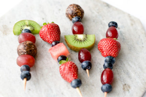 Fruit and Energy Ball Skewers