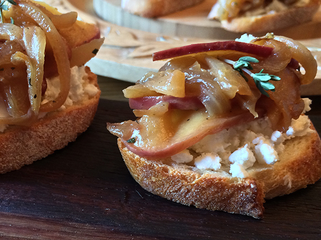 Caramelized Onion and Apple Crostini from Emily Richards