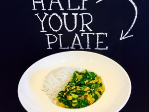 Spinach Dal  with toasted spices & basmati rice