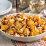 Roasted Rutabaga with Lemon Tahini Dressing