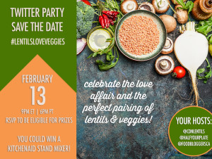 #LentilsLoveVeggies Twitter Party!