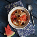 Steel-Cut Oats with Watermelon