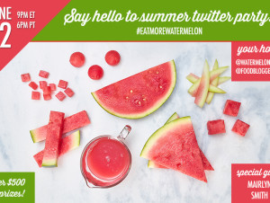 A summer online with #EatMoreWatermelon Twitter party!