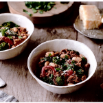 Crockpot Italian Chicken and Broccoli Rabe Chili