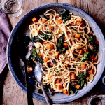 Winter Squash Carbonara with Broccoli Rabe