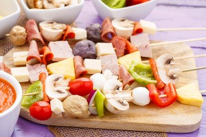 These raw pizza kabobs are are kid-friendly and the assembly allows for customization all around. Perfect for picky eaters, dietary restrictions, and those just looking for a fun appetizer