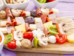 Raw Pizza Kabobs