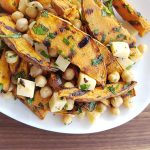 Grilled Sweet Potato and Chickpea Salad