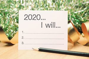 2020 goals list with decoration. We wish you a new year filled with wonder, peace, and meaning.